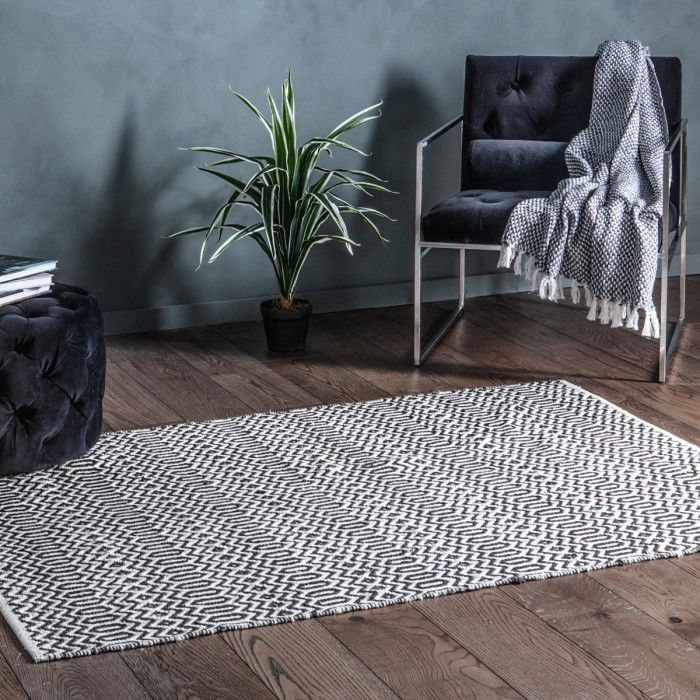 Callo Rug Black and Cream / Ochre